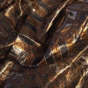 Vintage Oscar De La Renta Scarves Italy Copper
